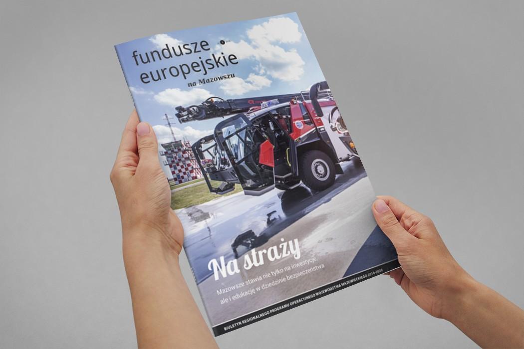 Okładka magazynu Fundusze Europejskie na Mazowszu