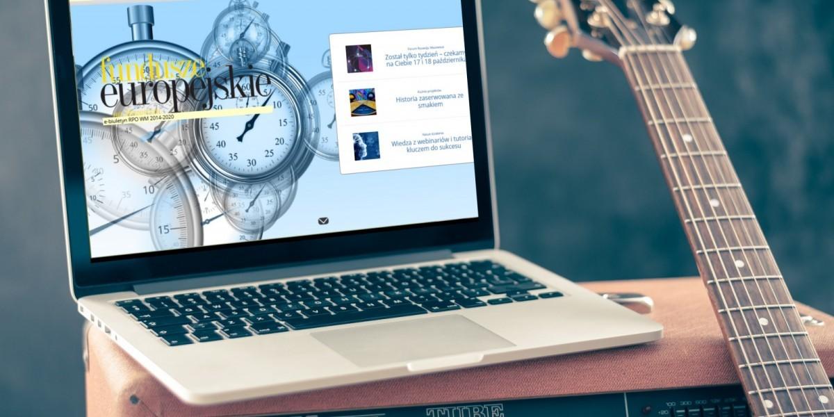 E-publikacja na ekranie laptopa